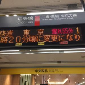 朝から電車停止中~