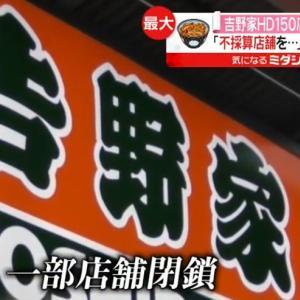 吉野家大量閉店-新型コロナウイルス影響で87億円の赤字
