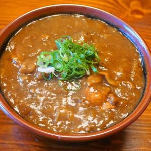 お昼はカレーうどん&カレー豆腐ソーメン