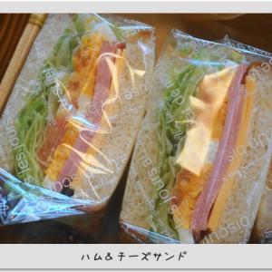 本日のサンドイッチ★今朝の海★野鳥達