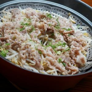 イベリコ豚とモヤシの蒸し鍋
