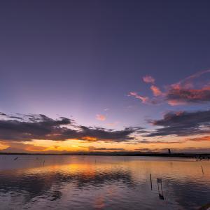 今日の浜名湖の夕焼け