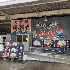 市場の食堂 金目亭@伊豆急下田 (金目三色丼)