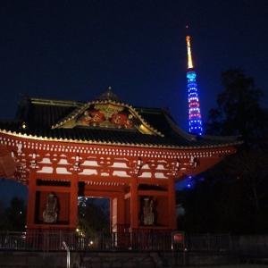 東京タワーライトアップ☆1月24日