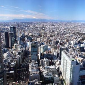 SHIBUYASKYからの富士山