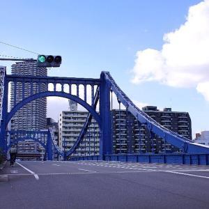 再び清洲橋☆青空