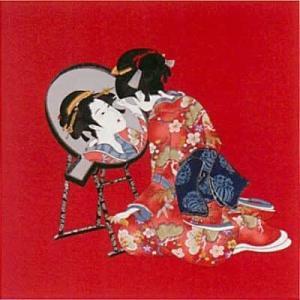 心鏡の冬の浮世絵