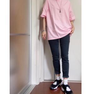 UNIQLOのロングカーデで、カッコよくピンクを着る