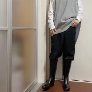 長靴は最強だった、あってよかった秋の長雨コーデ