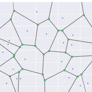 サッカーにおけるボロノイ図使用の制限 簡単な数値計算