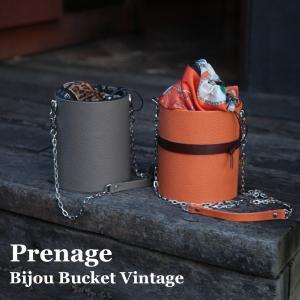 HERMESオレンジのレザーでバケットバッグ
