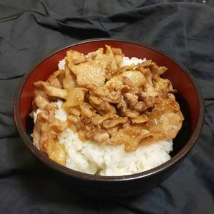 【料理】にんにく豚丼