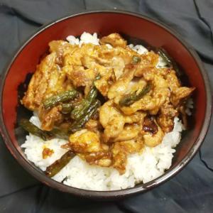 【料理】豚肉とインゲンのカレー炒め