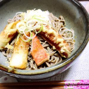 今日なに食べる?「柚子おろし蕎麦、天ぷらトッピング」