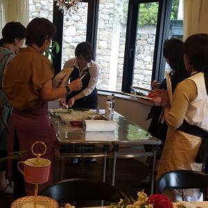 おもてなしのこころ、アフタヌーンティーセミナー。滋賀草津パン教室。
