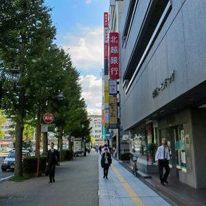 秋晴れの日の新潟駅付近…