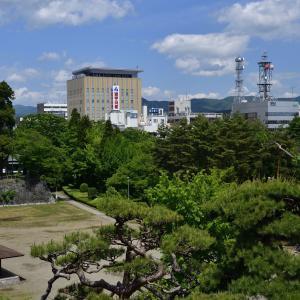 梅雨入り前に盛岡城跡公園に行きました。
