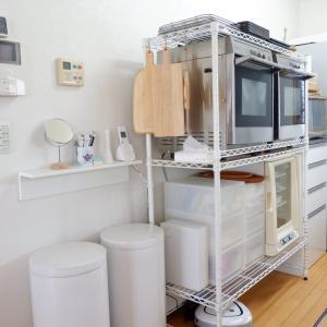 キッチン収納の見直し*ラック下→コンロ下=すっきり。