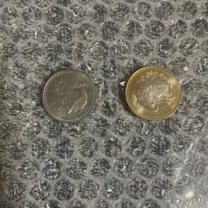 (500円玉貯金)記念硬貨2枚も一応投入 5回目