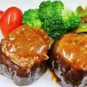 男の料理 旬の茄子を味わう!・・・ハンバーグ風肉詰め 焼き茄子 味噌炒め 酢の物