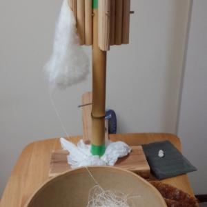 結城紬の糸とり