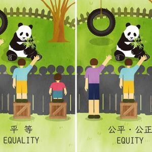 平等と公平の違い。