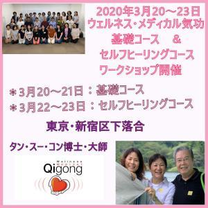 2020年3月20~23日ウェルネス・メディカル気功の東京ワークショップ