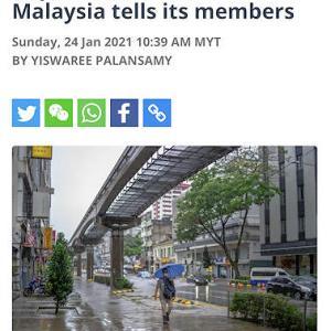 注意!このままだと、マレーシアは2月4日以降、完全ロックダウンに!!!