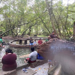 マレーシアの温泉地Sungai Klahで、のんびりいい湯だな♪