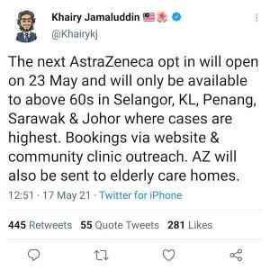 肩透かしなマレーシアのアストラゼネカ顛末記に、ロックダウンになる可能性?