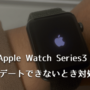 Apple Watch Series3のアップデートができないときの対処方法【容量不足】