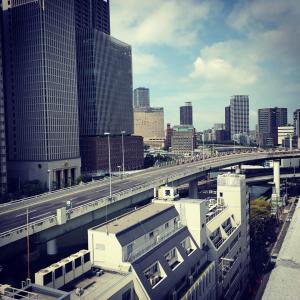 大阪停止。