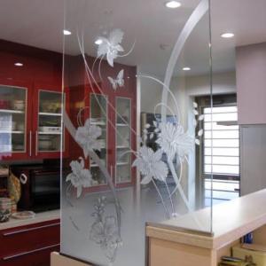 キッチンカウンターのパーテーション♥アンフィニローズ