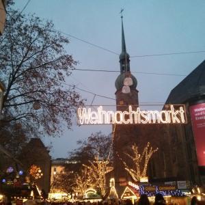 世界最大のツリーinクリスマスマーケット