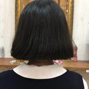 ワンカールパーマで韓国人の髪型にカット!!タンバルモリもラクにボリュームアップ。