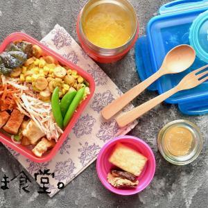 残り物サラダ弁当。と1日に食べたもの、と道の駅八王子滝山。