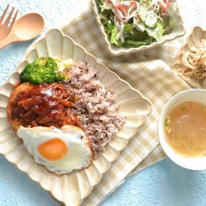 3/2 ダイエットごはん。【お豆腐と野菜のハンバーグ。】