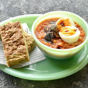 6/14 ダイエットごはん。【ズッキーニブレッドとレンズ豆スープ。】