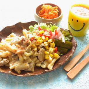 8/15【豚肉ときのこの味噌クリームパスタ。鳥もつ煮レシピ。市販おかずの話。】