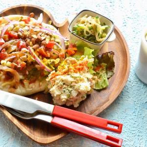 8/17【生姜焼きオープンサンド。くるみちぎりパン。旦那ごはんは和風おろしハンバーグ。】