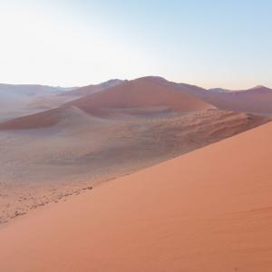 32. ナミブ砂漠「Dune45」は日の出と共に別世界になった。