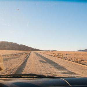 31. Dune45の練習に、小さな砂丘を登ってみた。