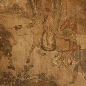 真面目で勇敢な猪八戒を描いた大仏寺の西遊記壁画 甘粛省張掖市