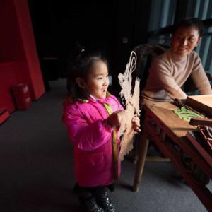 博物館の影絵彫刻 陝西省西安市