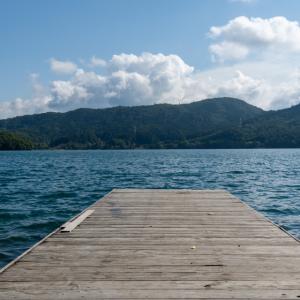 湖畔でSUPと観光で充実した秋キャンプ③【青木荘キャンプ場】