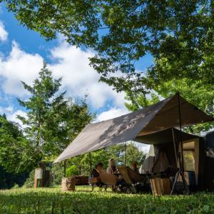 秋の風を感じる心地よいキャンプ場へ【和良川公園キャンプ場】