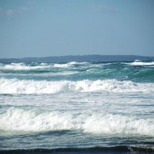 今日も海は荒れています。