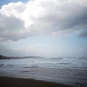 海は荒れています。