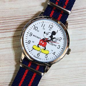 ディズニー ミッキーマウスウォッチ 腕時計 NATO オシャレで可愛いですね!