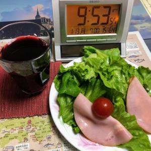 200113晩酌の肴は野菜炒めとソーセージ